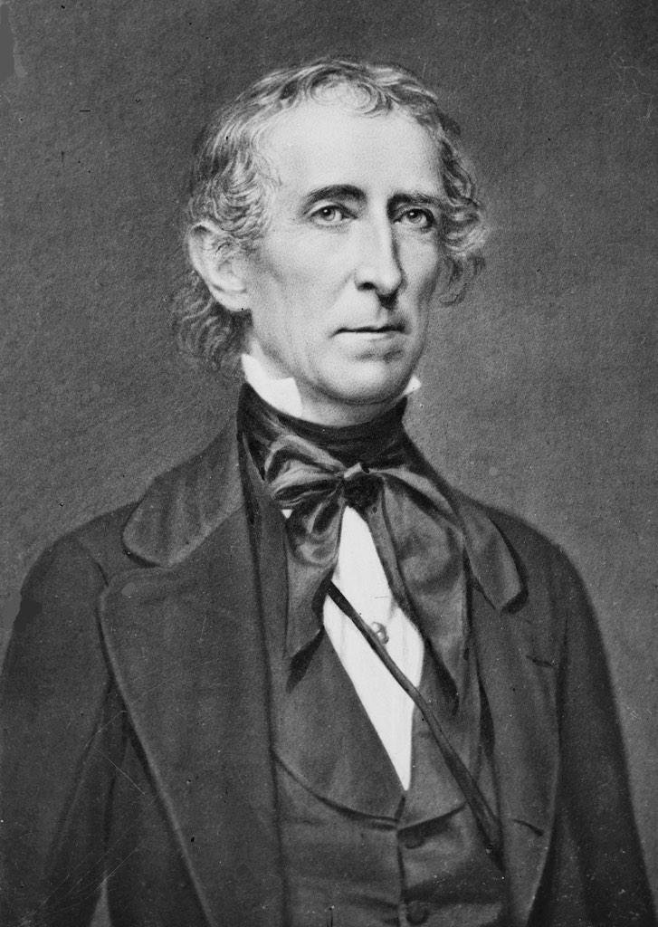 John Tyler, America's tenth president, w...