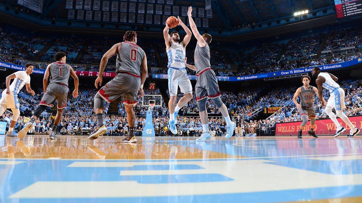 Y'all see that boy Luke tonight?! 👀😱🤩 32pts | 18 rebs 🙌 #CarolinaSZN