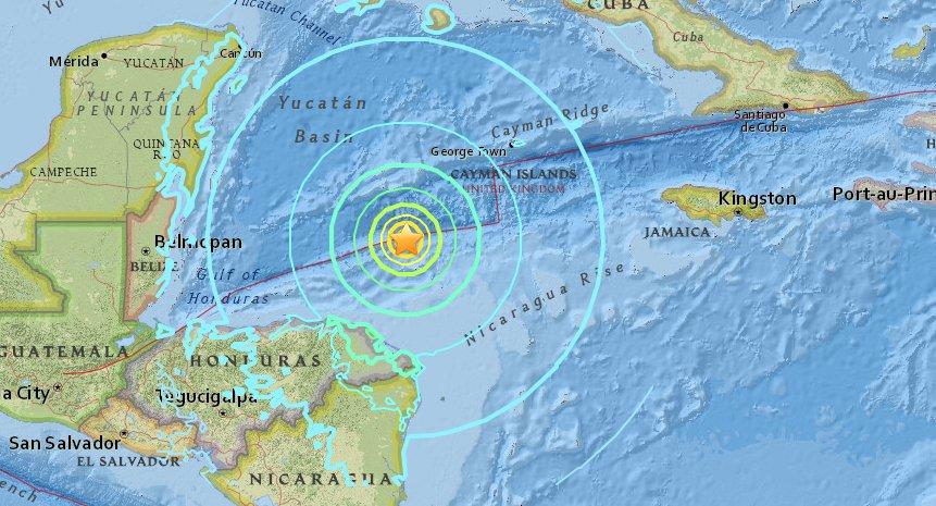 Fuerte sismo entre Honduras y Cuba se siente en el occidente cubano