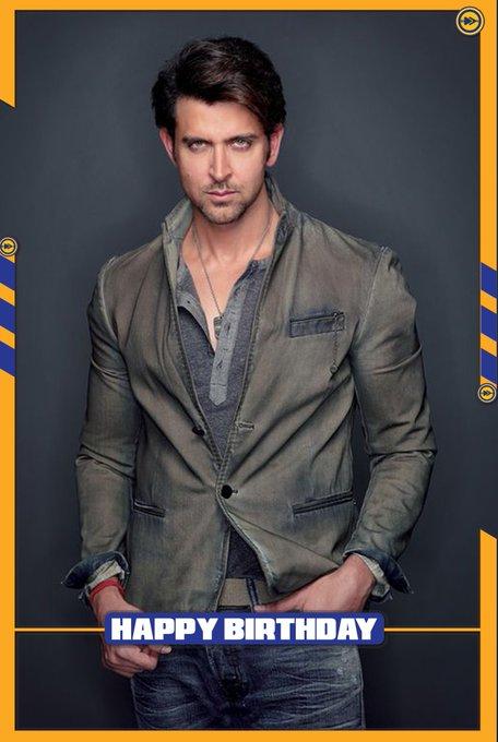 Happy birthday to the Bollywood actor, Hrithik Roshan!!!