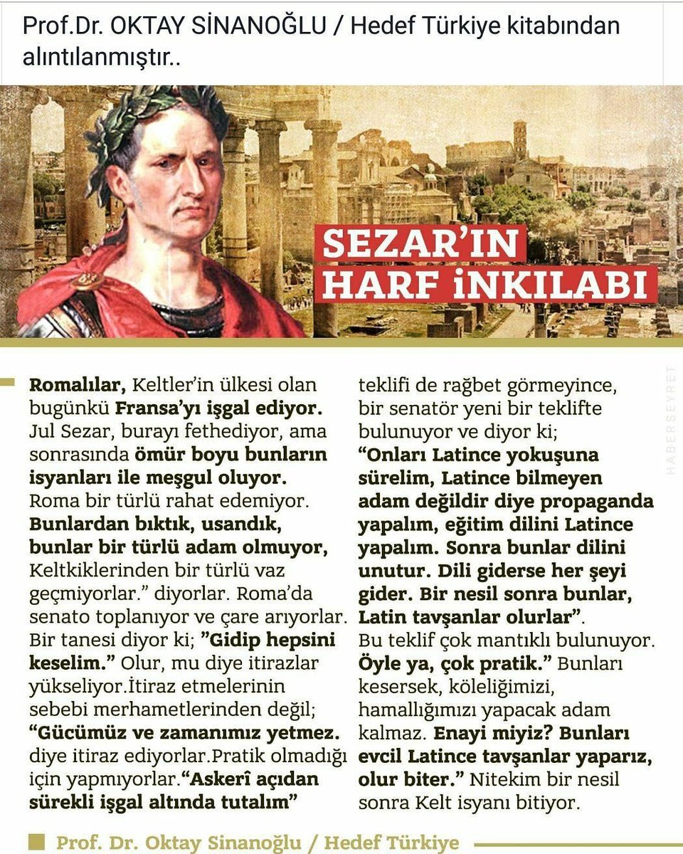 SEZAR'IN HARF İNKİLABI (11 OCAK 2018)