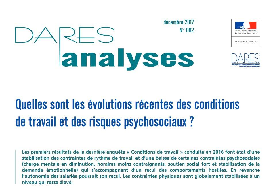 Vignette document Quelles sont les évolutions récentes des conditions de travail et des risques psychosociaux ?