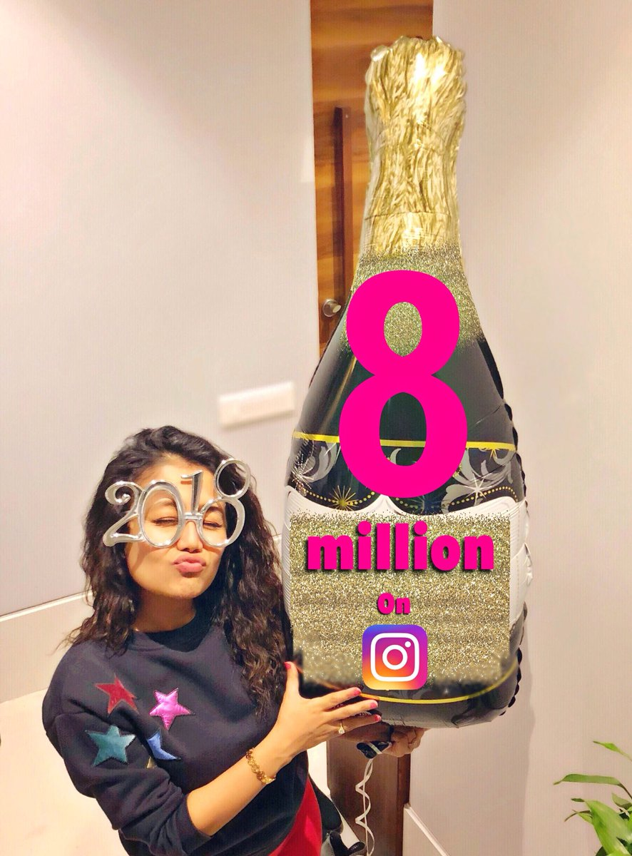 Neha Kakkar On Twitter And I Become The Highest Followed Indianmusician On Instagram Yippeeee 8million Omg Thank Youuuuu Love You All Https T Co 1qsnxtwjlf