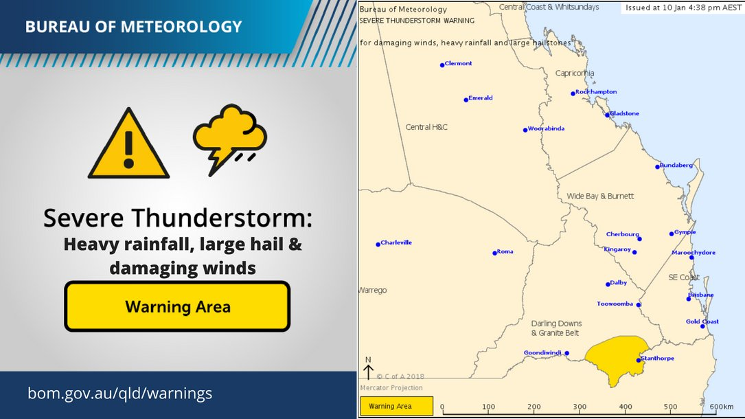 Map Of Texas Qld.Bureau Of Meteorology Queensland On Twitter A Severe Qldstorm