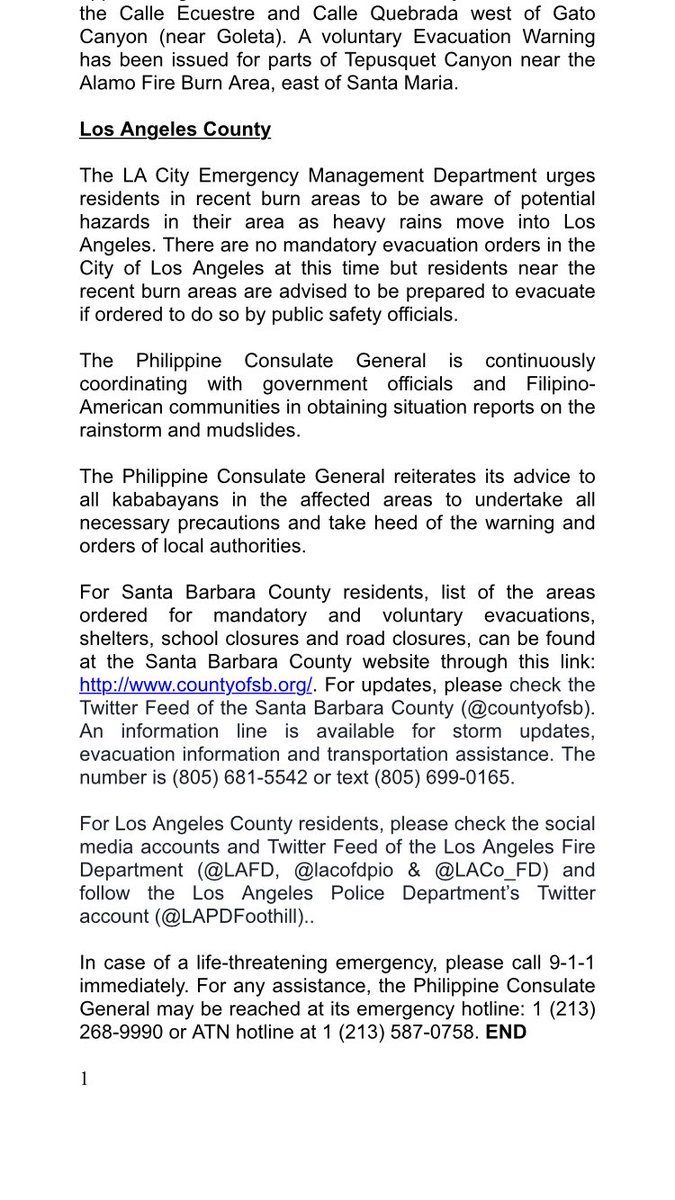 abs cbn news channel on twitter advisory from the los angeles