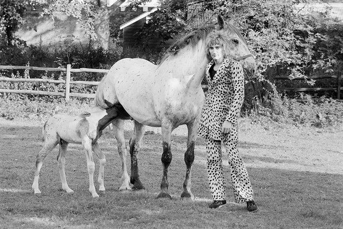 Happy Birthday Rod Stewart!  Photo taken in Windsor, 1971.