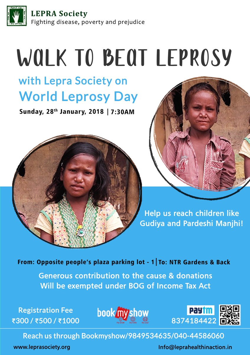 LEPRA Society On Twitter This WorldLeprosyDay Lets Walk