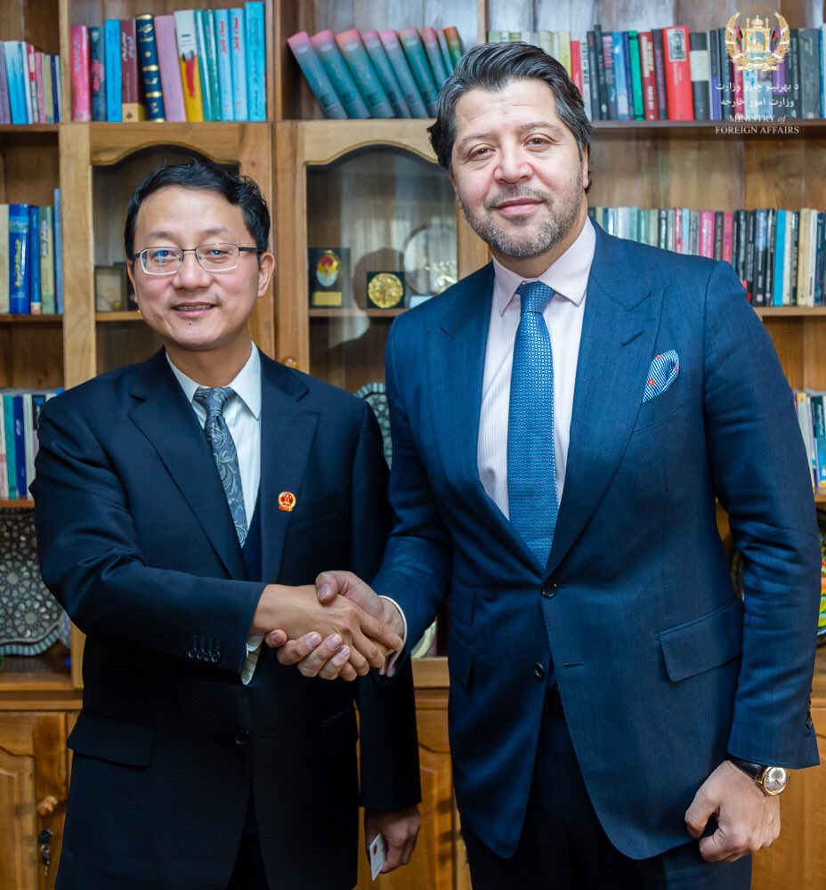 Pleasure to meet the new Chinese Amb HE Liu Jinsong to Kabul. I extended to the Amb the gratitude of the Afghan people and stressed that China is not just a neighbor but also an important regional partner for peace, stability and economic cooperation.