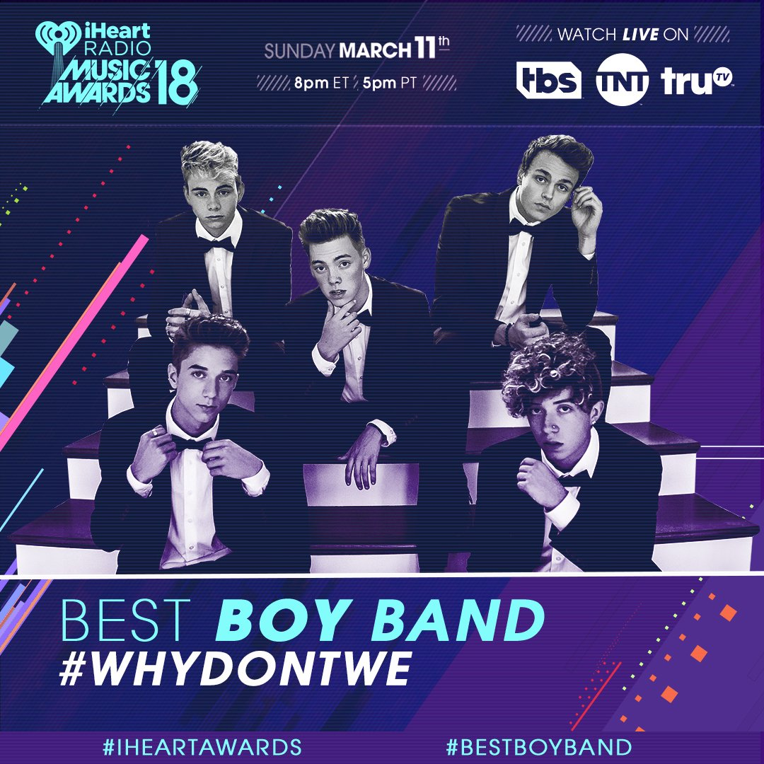 If you love @whydontwemusic RT this to vote for them to win! #WhyDontWe #BestBoyBand #iHeartAwards