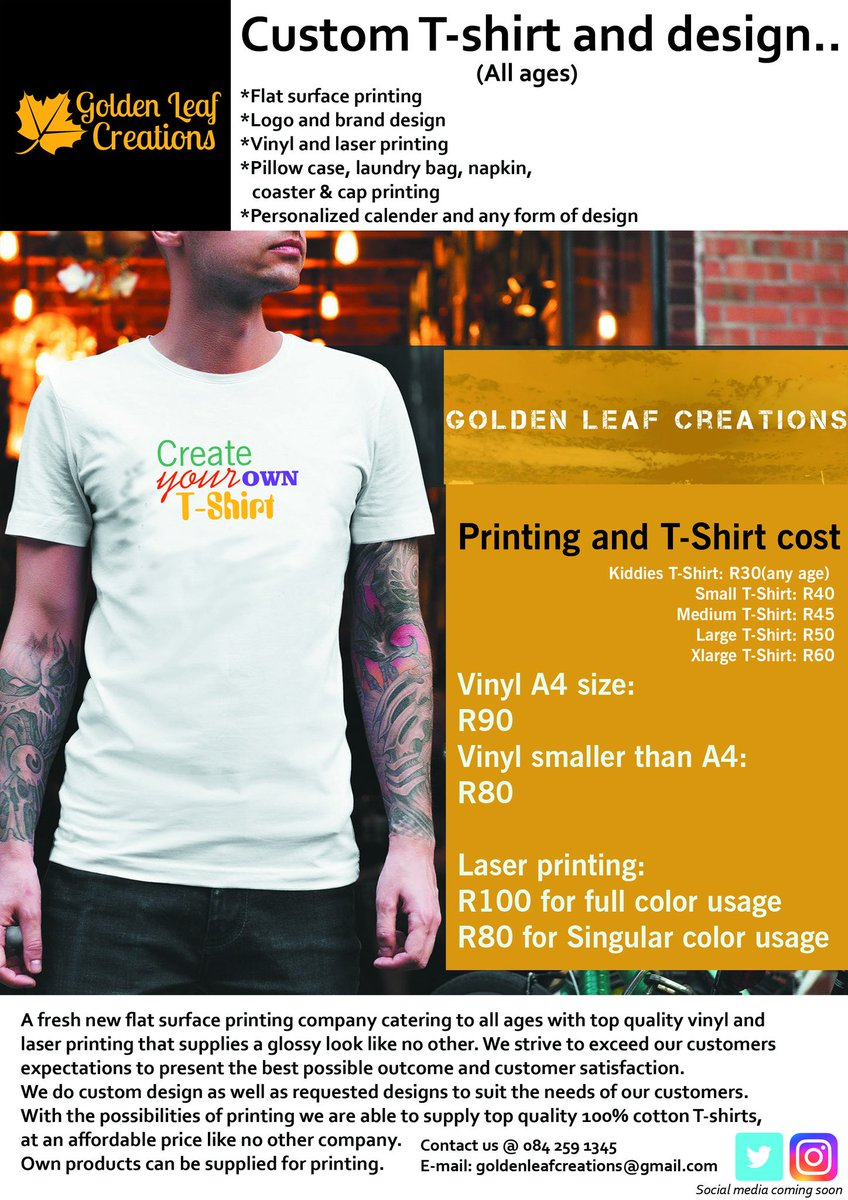 Goldenleafcreations On Twitter Price List Is Live We Cater To