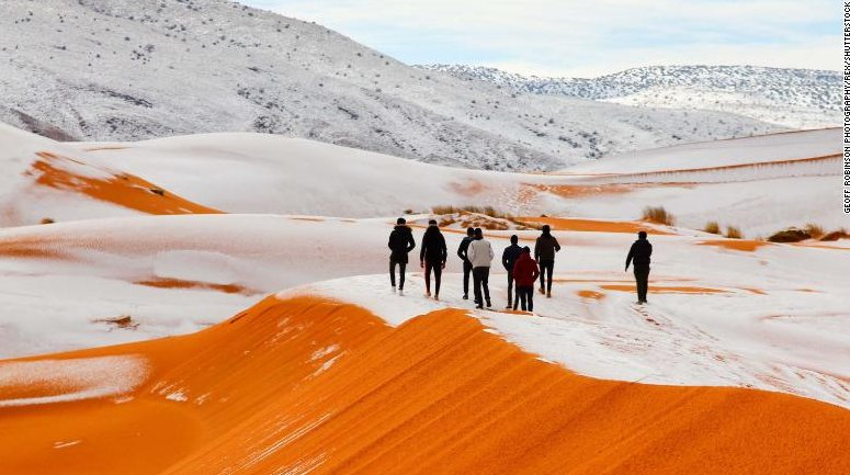 Axel Bojanowski On Twitter Seltener Schnee In Der Sahara
