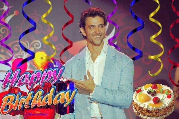 Happy birthday too world\s most handsome nd stylish star....Hrithik Roshan luv u alwz