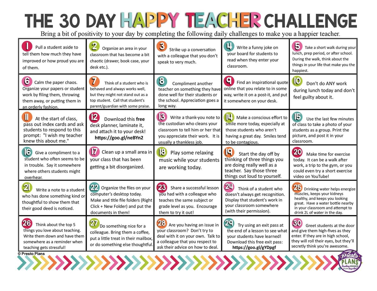 karen chenoweth on twitter cuda teachers day 10 nsbhshappyteacher challenge is to not do any work while you eat lunch and not feel guilty about it