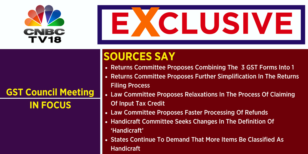 Cnbc Tv18 On Twitter Cnbctv18exclusive Sources Say Gst Council