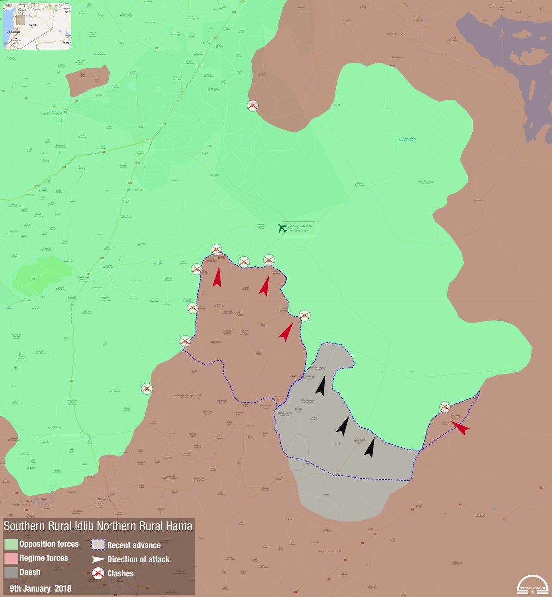 FSA News on Twitter NEW Map Idlib Hama Newly updated Regime