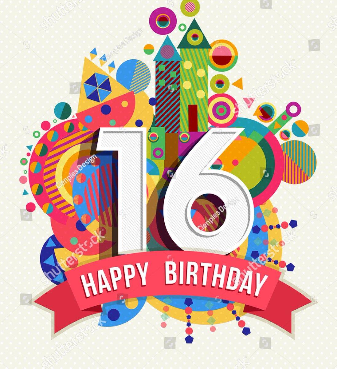 Днем, открытки поздравления днем рождения 16 лет