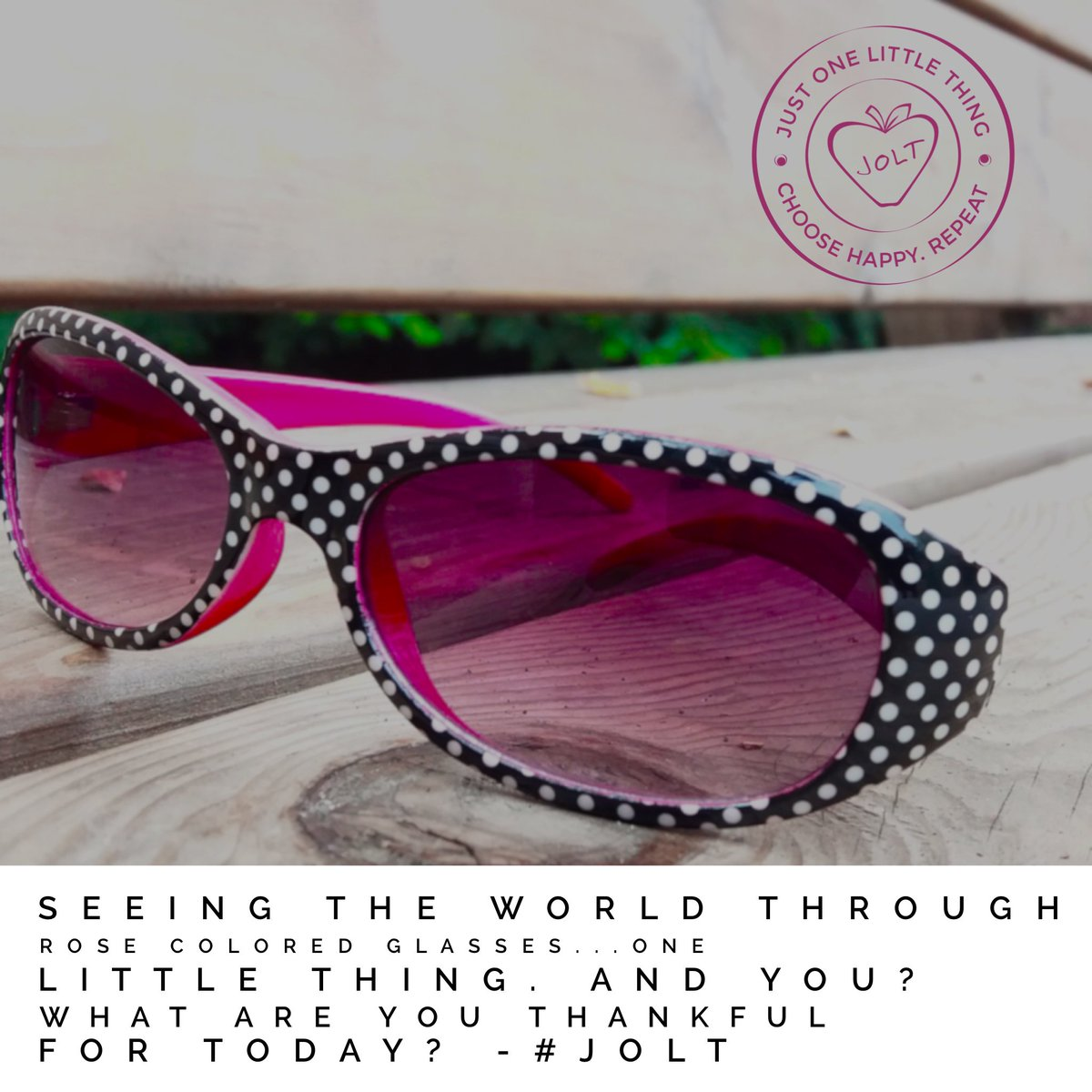 7d8e37a002b Seeing the world through rose colored glasses...one little thing. And you   What are you thankful for today   justonelittlething  jolt  dailygratitude  ...