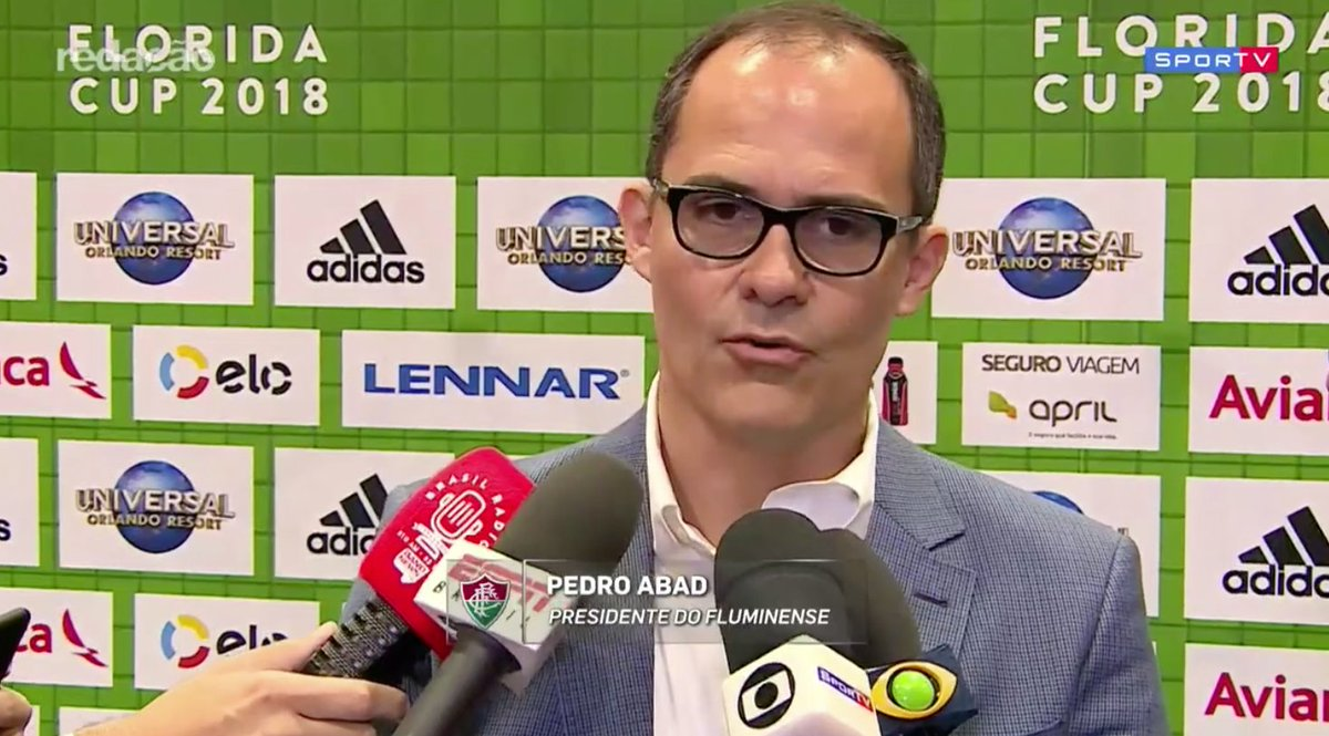 Pedro Abad sobre Dourado: 'Não vai ser vendido de jeito nenhum. Vai ficar no Fluminense.'  #RedacaoSporTV