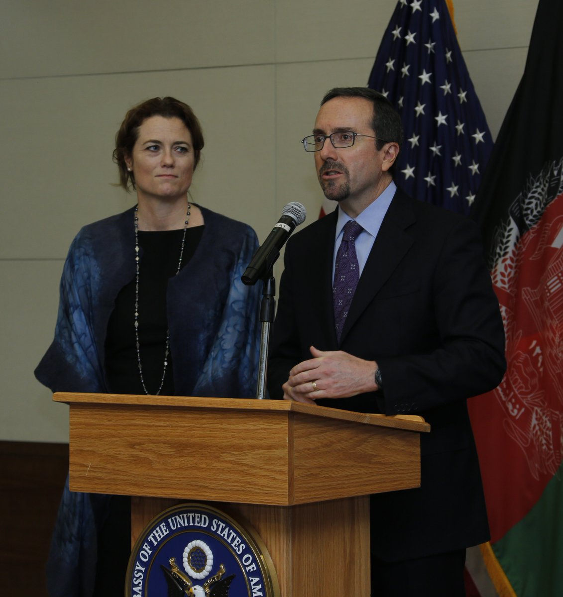 Thank you to all our guests who came to our welcome reception yesterday. I am pleased to meet you and look forward to working together to create a brighter future for #Afghanistan and a stronger U.S.-Afghan partnership