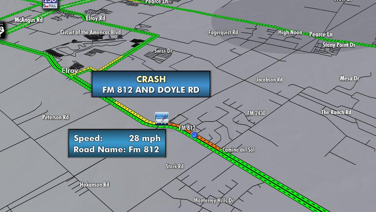 Kxan Traffic Map.Kxan News On Twitter Atxtraffic New Crash Slowing Wb Traffic On