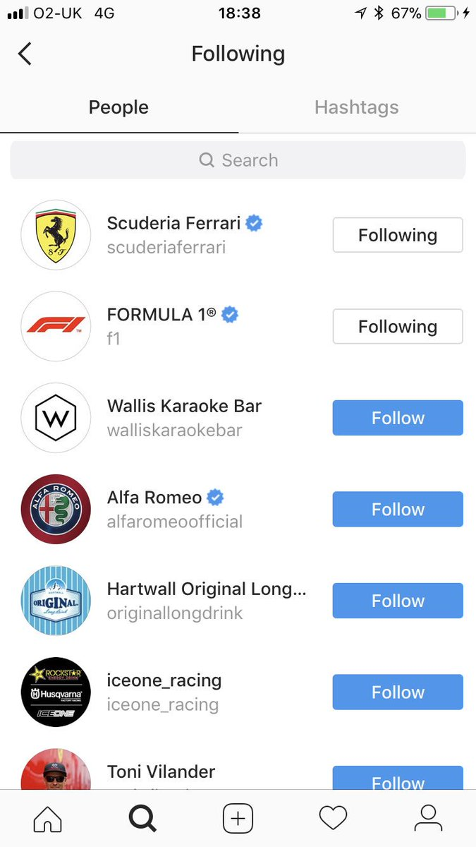 The people Kimi follows on Instagram (th...