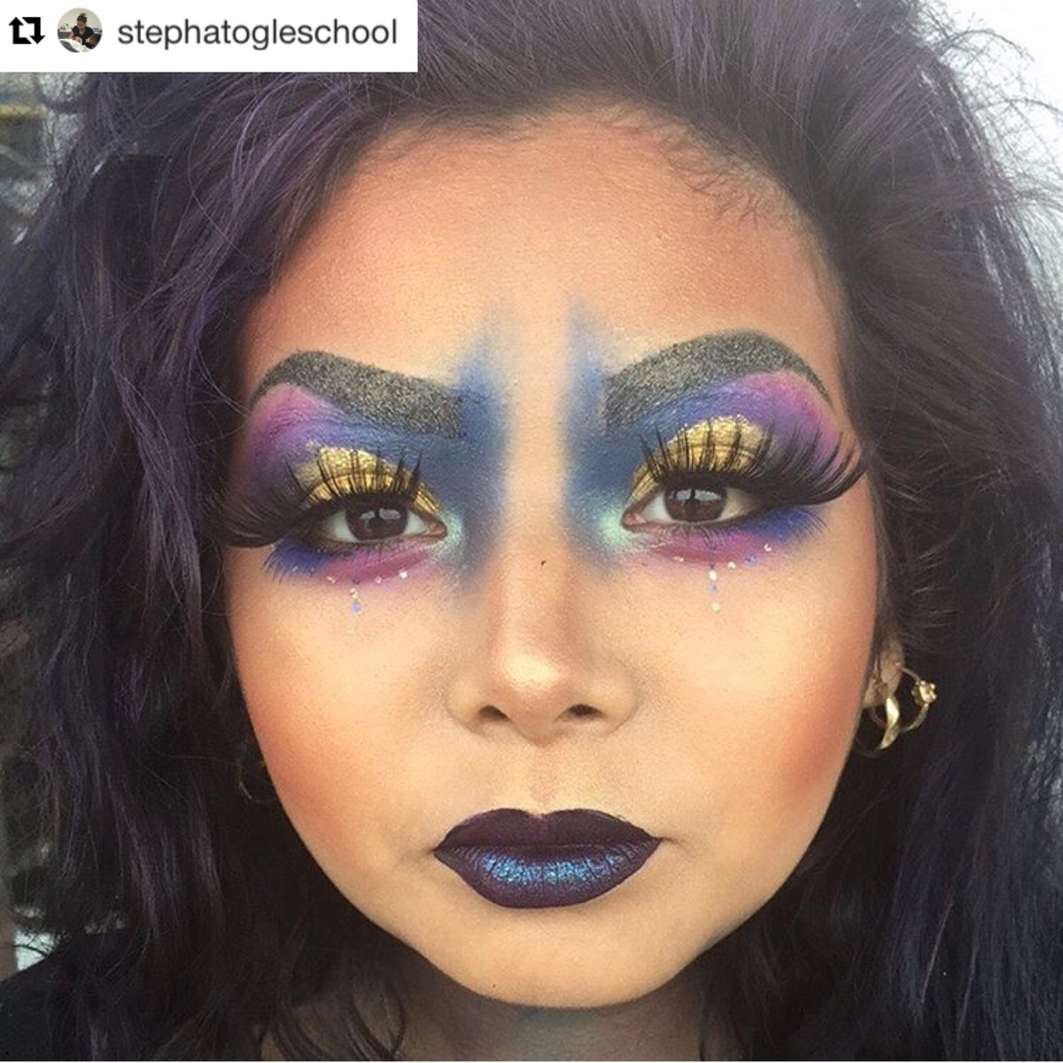 Ogle School On Twitter Ogle San Antonio Had An Avant Garde Makeup