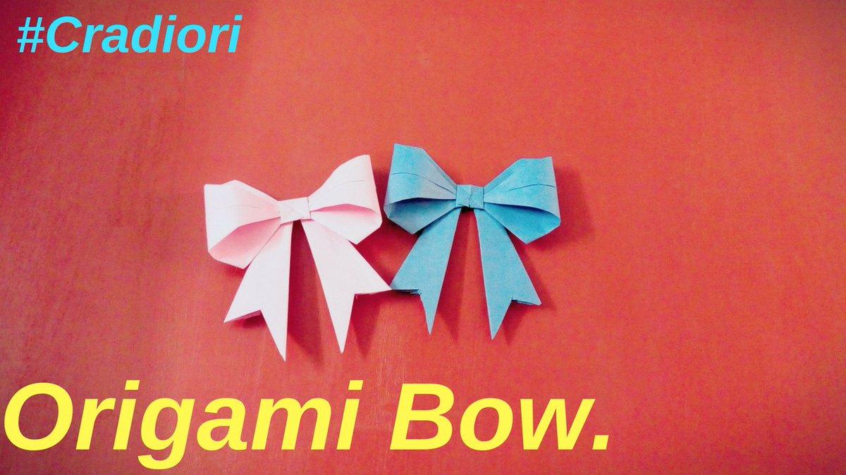 Origami Bow Folding Instructions | 675x1200