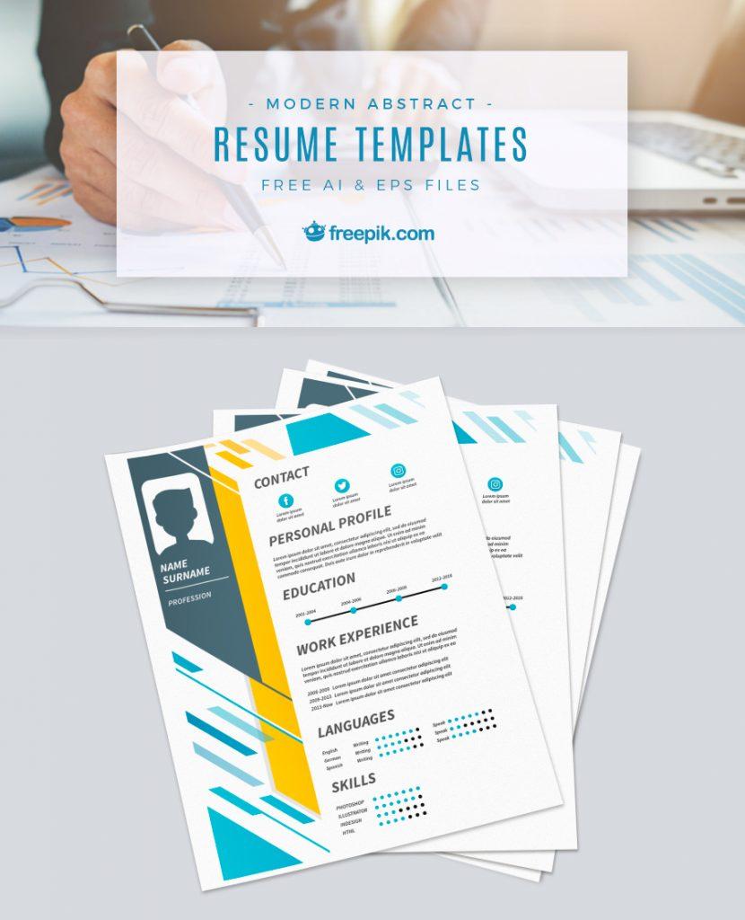 Freepik On Twitter Free Download Resume Templates Httpstco