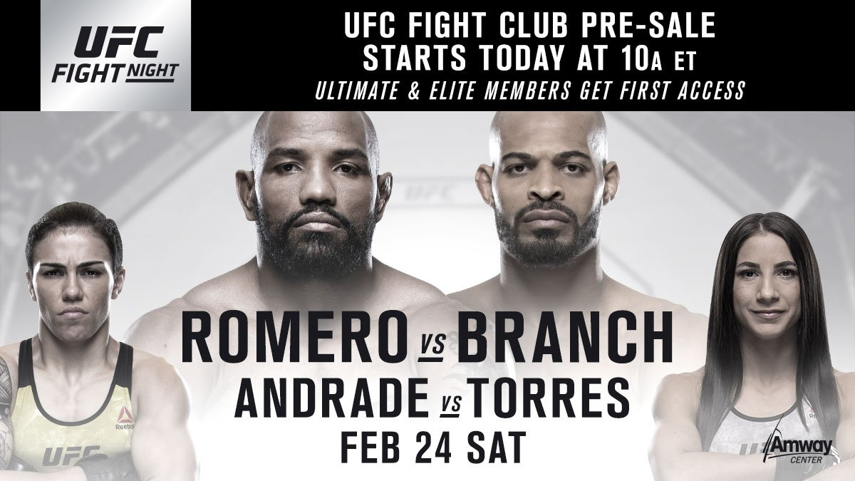 FIGHT CLUB MEMBERS! Get your tickets for #UFCOrlando NOW: bit.ly/2CO4DW0