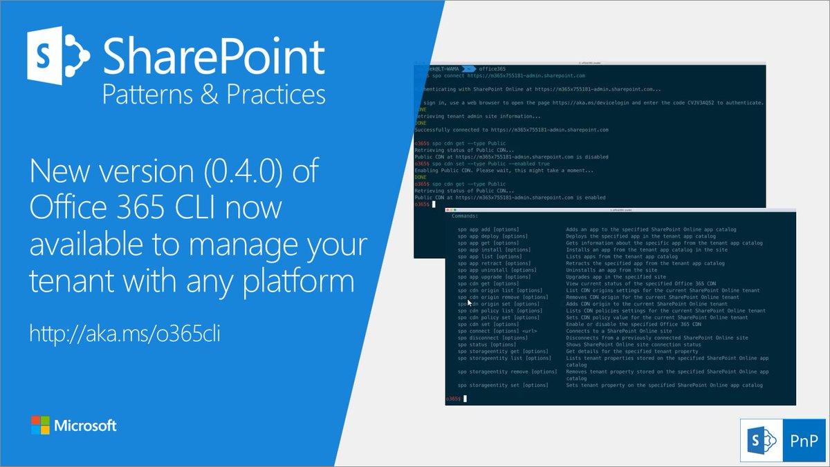 Office 365 Dev PnP on Twitter:
