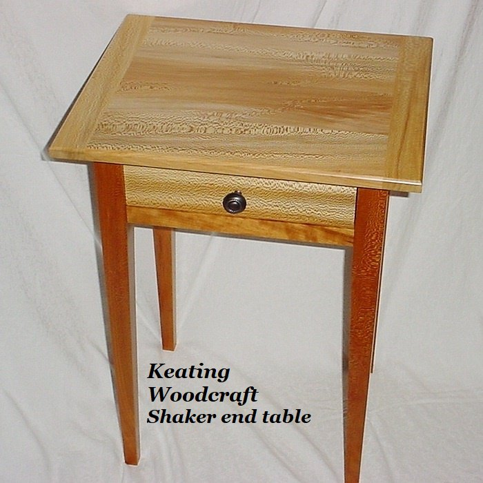 Keating Woodcraft has been making handmade wooden furniture since 1994. We  offer end tables, spice cupboard, doll furniture and more.