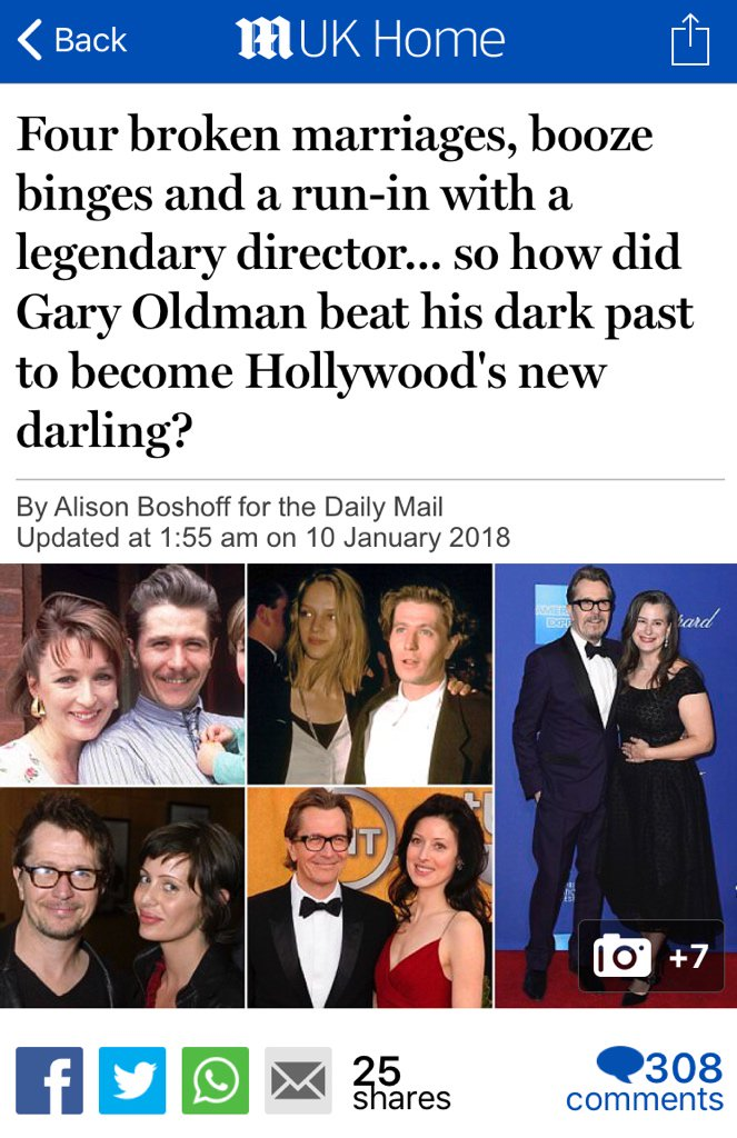 the dm reporter s tweet profile gary oldman s doing quite well