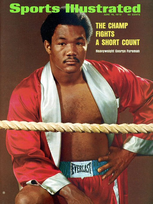 Happy 69th bday to former heavy weight champ, George Foreman!