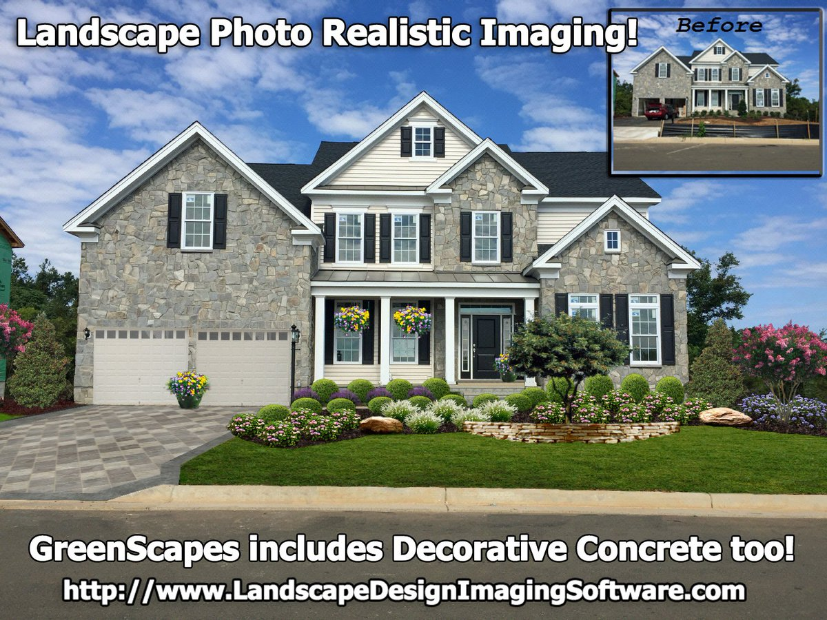 Beau Did You Know #GreenScapes Includes #decorativeconcrete? So Even If The  Customer Did Not Request It. Up Sell And Show Off Better Curb Appeal.