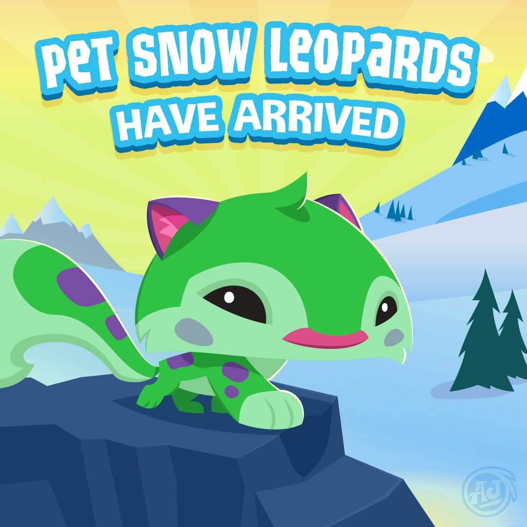 Leopard Ridge The Snow Leopard Pet Has Just Arrived In Play Wild What Cute Little Fluffball Log Into Play Wild And Adopt Your Own Lovable Fluffable Today Twitter Animal Jam On Twitter