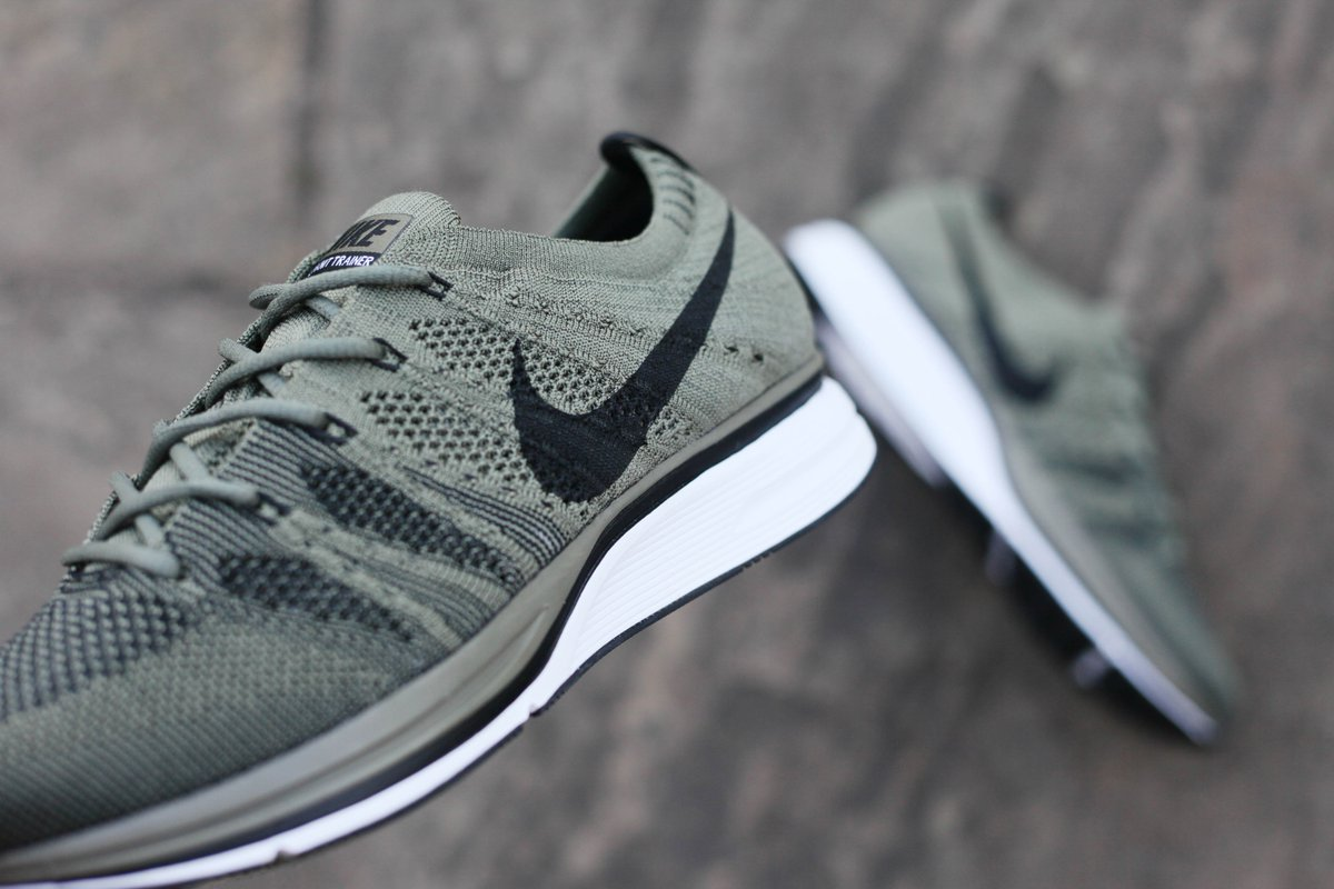 dcebd7b88531 Nike Flyknit Trainer Medium Olive Black is available in-store and online ...