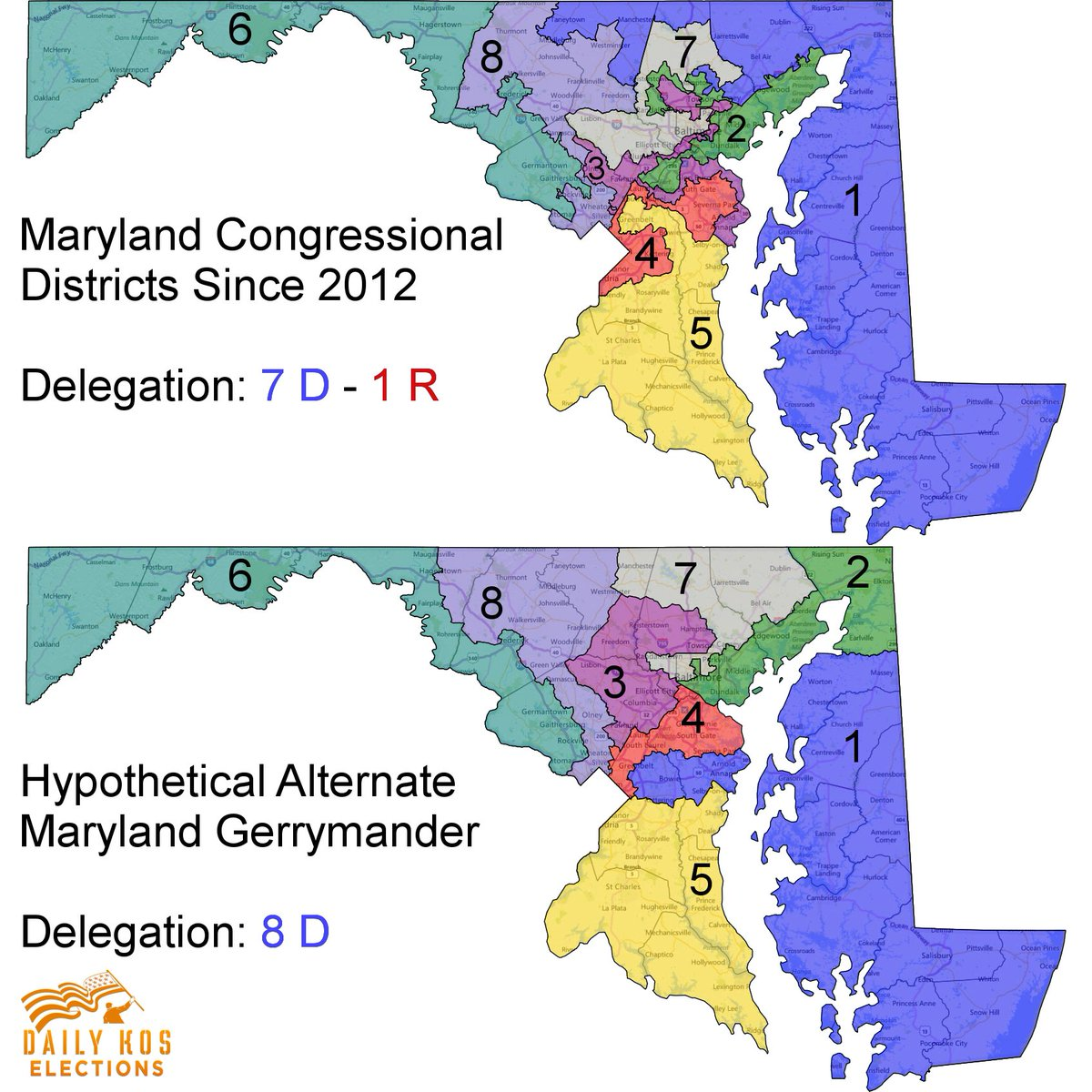 stephen wolf on twitter which of these congressional maps is the more extreme partisan gerrymander its actually the second one which eliminates the