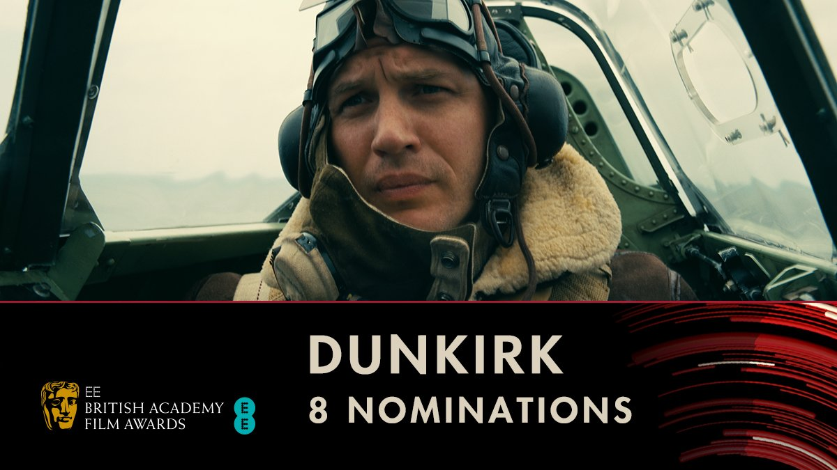 Congratulations to Dunkirk for its 8 BAFTA nominations including Best Film! 🚢 #EEBAFTAs  Best Film Director Original Music Cinematography Editing Production Design Sound Special Visual Effects