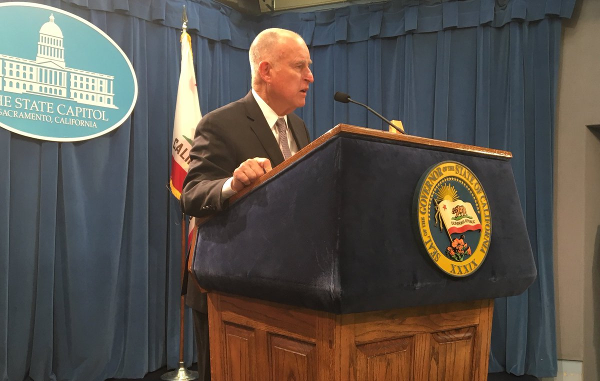 Governor Brown introducing his proposed 2018-2019 state budget