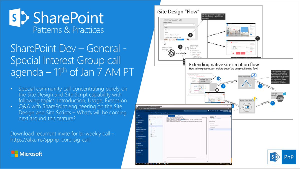 Pt 3 Pm Gmt Around General Sharepoint Dev Special Concentrating On New Site Design And Site Scripts Capability