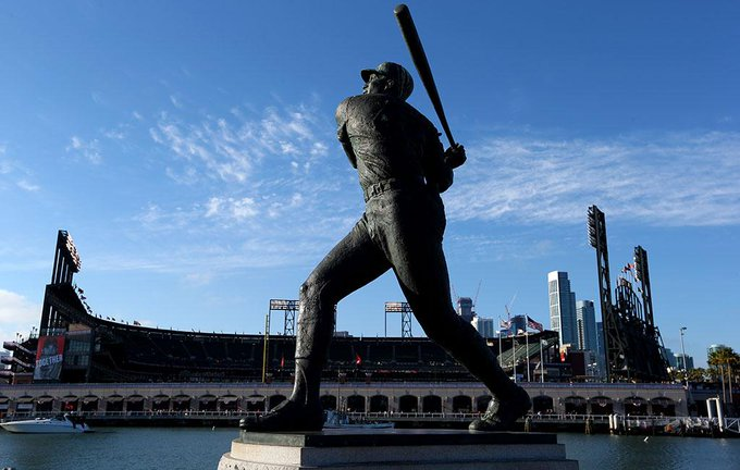 You know you re a legend when you have a cove named after you.  Happy 80th birthday to Willie McCovey!