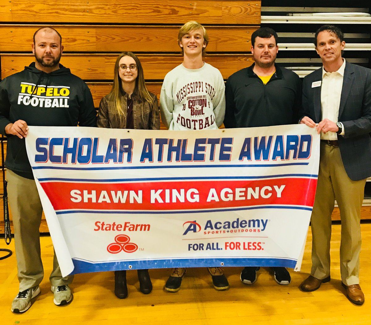 shawn king agency on twitter congrats to tupelohigh s katlyn harrison scholar athletes for december enjoy your gift cards from sportsacademy thanks to coach clayton faucette for all the time twitter