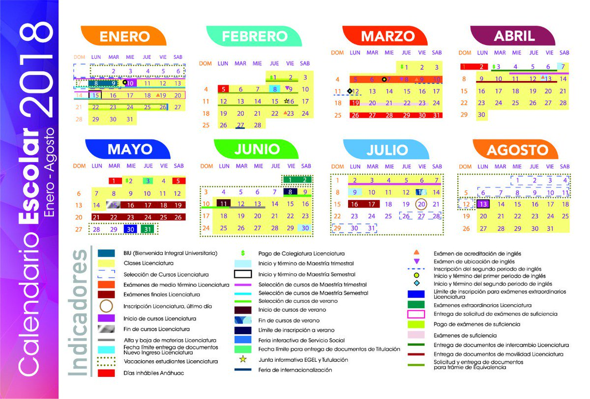 Calendario Escolar 18 19 Puebla.Anahuac Puebla On Twitter Conoce El Calendario Escolar