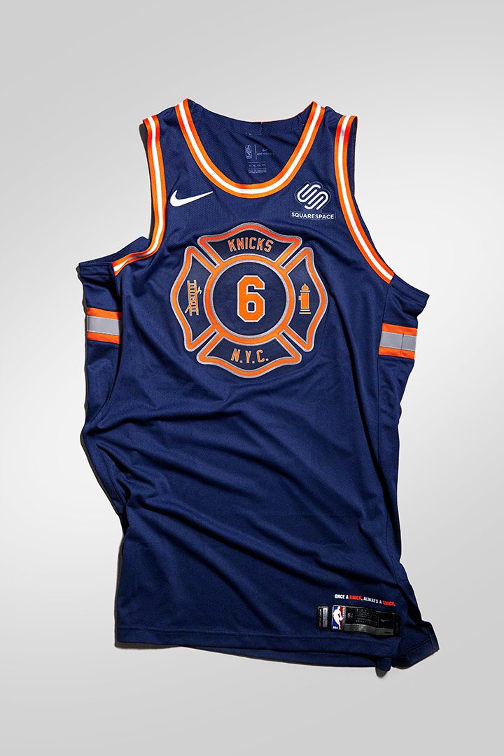 b4d646200a1 New York Knicks officially unveiled City Edition Uniforms paying homage to  Firefighters & their families. Knicks will Debut City Edition Uniforms  Against ...