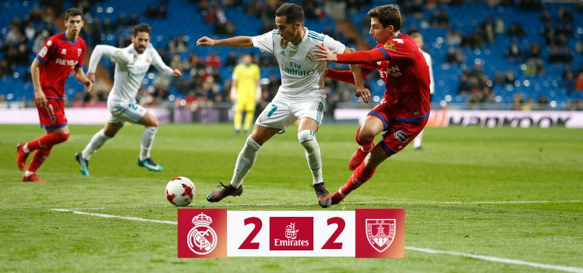 Chấm điểm kết quả Real Madrid 2-2 Numancia