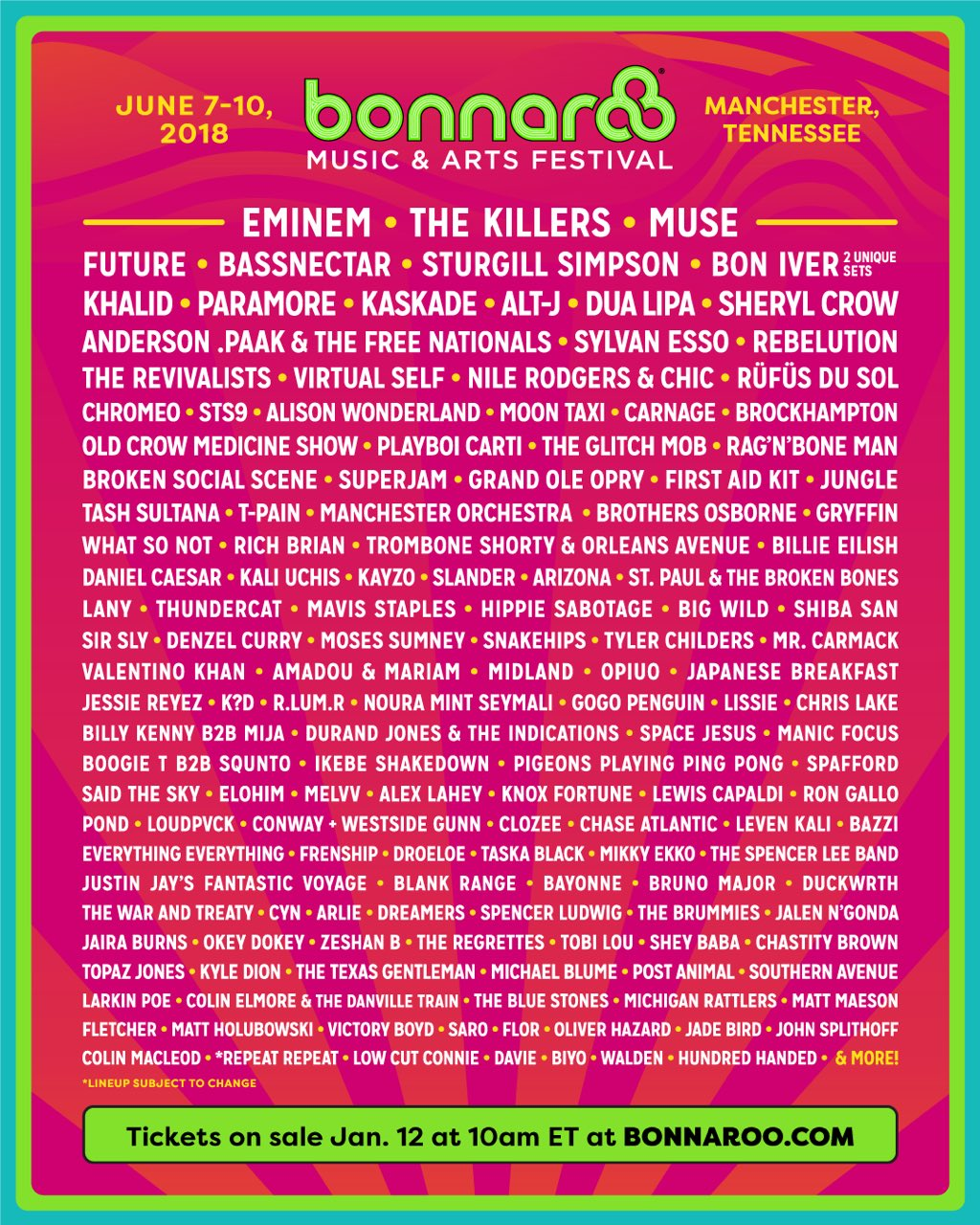 Bonnaroo! We're coming and we're bringing sternos! https://t.co/9WaRlJcHPj