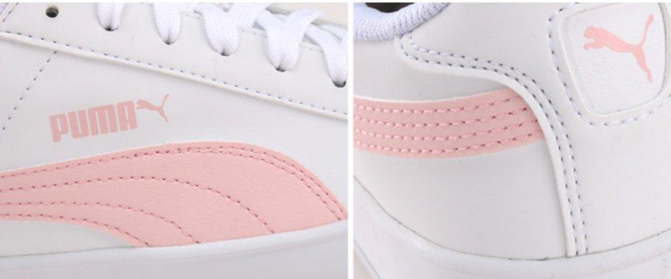 puma smash vulc white sneakers
