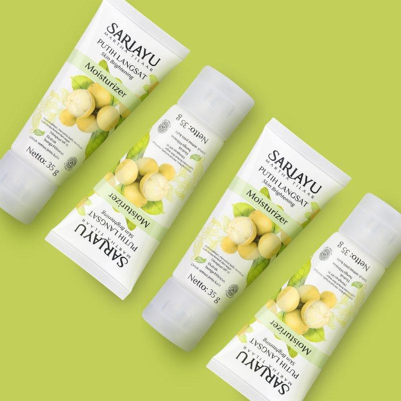 Kan ada Sariayu #PutihLangsat Moisturizer yang dapat melindungi kulit kamu dari sinar matahari dan membuat wajah lebih cerah.