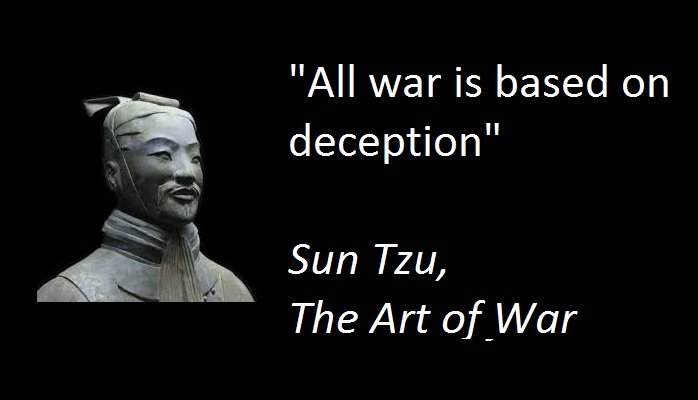 Image result for all warfare is based on deception""