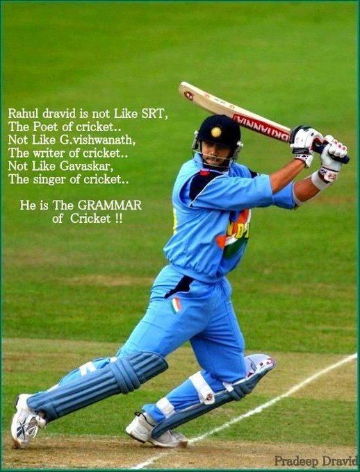 A very happy birthday to the great indian batsman Rahul Dravid